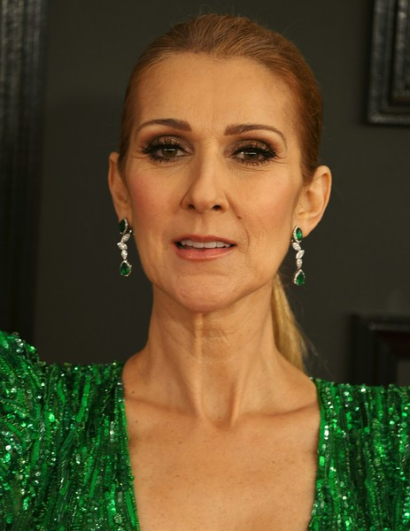 Celine Dion Dangling Gemstone Earrings