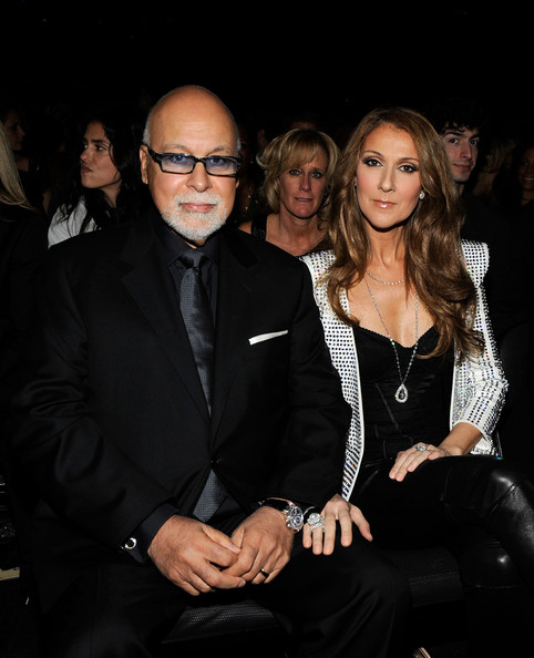 Celine Dion Pearl Ring [audience,celine dion,rene angelil,r,eyewear,fashion,event,suit,fashion design,vision care,formal wear,outerwear,glasses,photography,52nd annual grammy awards,los angeles,california,staples center]