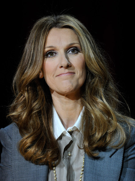Celine Dion Long Wavy Cut [celine dion returns to the colosseum at caesars palace,show,hair,face,blond,hairstyle,eyebrow,long hair,chin,layered hair,beauty,lip,celine dion,dion,residency,the colosseum,caesars palace,las vegas,nevada,news conference]