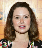 Katie Lowes kept it simple with this half-up hairstyle at the opening night performance of 'Quack.'