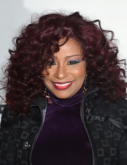 Chaka Khan showed off her signature curls in a purple hue that only Chaka could pull off.