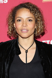 Carmen Ejogo wore her hair in a curly bob at the special preview of 'Seymour: An Introduction.'