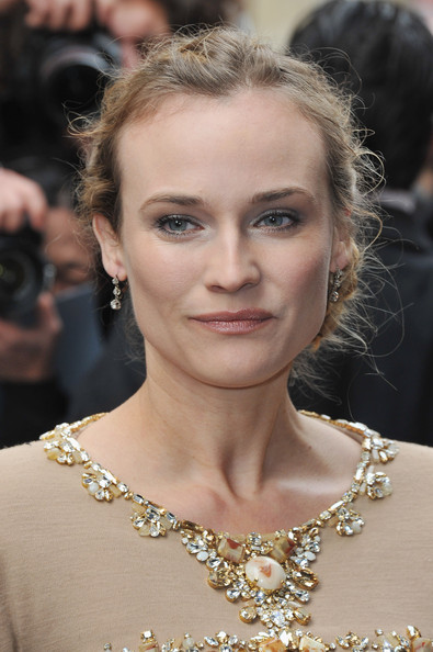 More Pics of Diane Kruger Beaded Dress (1 of 8) - Diane Kruger Lookbook - StyleBistro [haute couture s/,hair,face,hairstyle,eyebrow,shoulder,fashion,blond,beauty,skin,chin,chanel - arrivals,diane kruger,part,pavillon cambon,paris,france,chanel,paris fashion week,show]