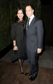 Sophie Winkleman topped her LBD with an equally gorgeous trenchcoat at the Pre-Oscar dinner.