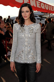 Anna wears a classic embroidered bouclé jacket from the Cruise 2011 collection.