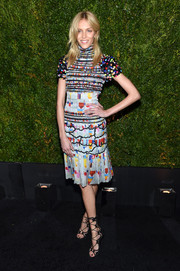 Anja Rubik chose a printed turtleneck dress in a burst of candy colors for her Tribeca Film Festival Chanel dinner look.