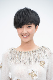 Kwai Lun-mei rocked emo bangs at the Chanel Couture fashion show.