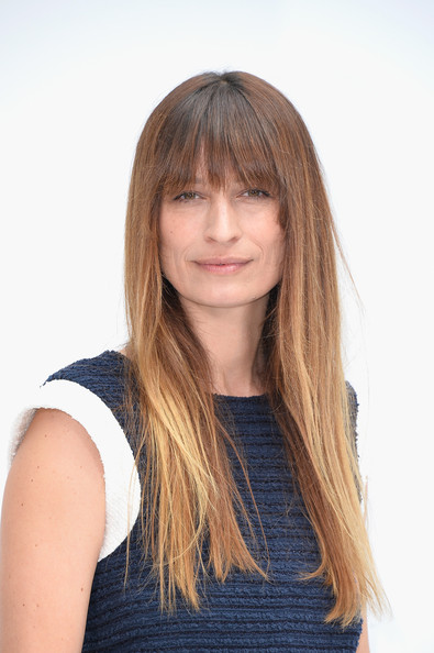 Caroline De Maigret attended the Chanel Couture show wearing a casual straight 'do with eye-skimming bangs.