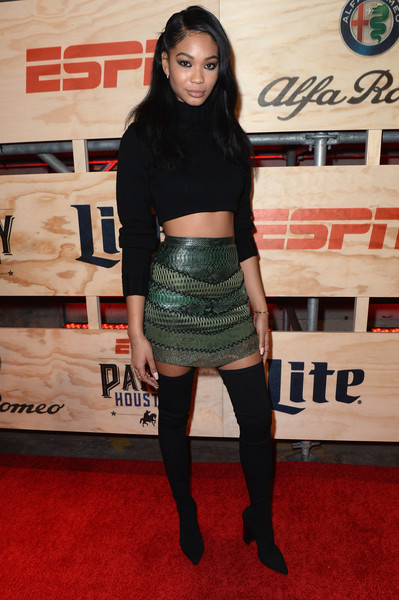 Chanel Iman Mini Skirt