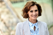 Ines de la Fressange attended the Chanel Couture Fall 2017 show wearing a feathery bob.