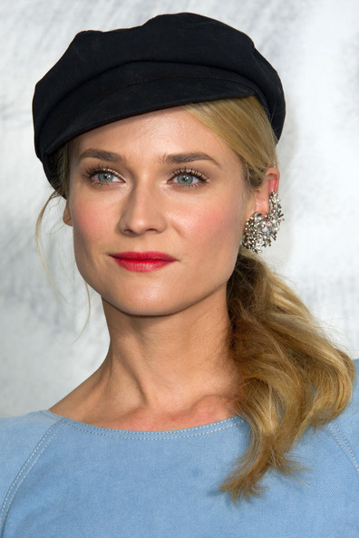 More Pics of Diane Kruger Newsboy Cap (3 of 9) - Newsboy Cap Lookbook - StyleBistro