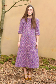 Keira Knightley went for a simple yet chic lilac tweed midi dress by Chanel Couture when she attended the brand's Fall 2018 show.