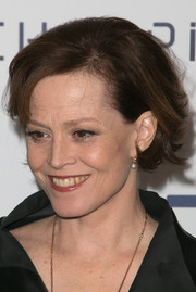 Sigourney Weaver looked retro-chic with her teased bob at the 'Chappie' photocall in Paris.