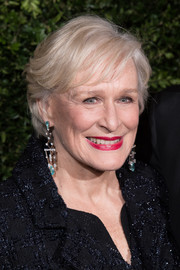 Glenn Close attended the Charles Finch and Chanel pre-BAFTA dinner wearing a feathery short 'do.