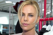 Charlize Theron Twisted Bun