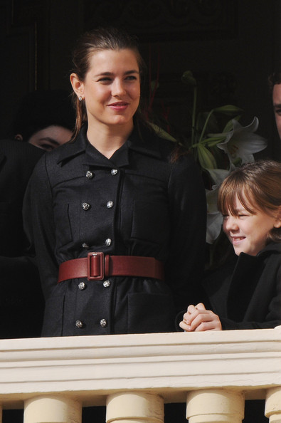Charlotte Casiraghi Oversized Belt [uniform,official,police officer,performance,alexandra of hanover,charlotte casiraghi,part,monaco,cathedrale notre-dame immaculee,monaco national day -celebration of mass,army parade,celebrations,national day]