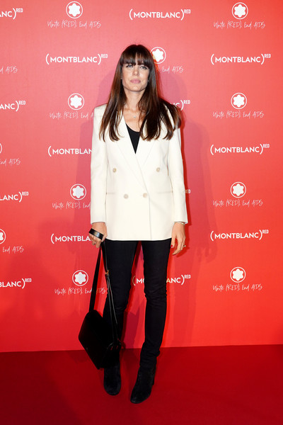 Charlotte Casiraghi Ankle Boots [clothing,red,red carpet,carpet,footwear,flooring,outerwear,premiere,pantsuit,style,party,montblanc,red,paris,france,monsieur bleu,launch dinner,charlotte casiraghi]