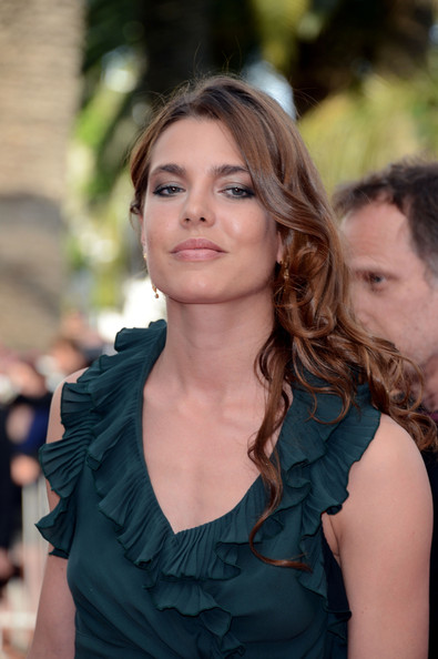 Charlotte Casiraghi Long Curls [once upon a time,hair,hairstyle,beauty,lady,long hair,fashion,brown hair,blond,dress,layered hair,charlotte casiraghi,once upon a time premiere,cannes,france,cannes film festival,palais des festivals]
