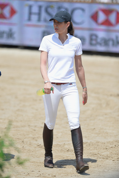 Charlotte Casiraghi Polo Shirt [sports,white,baseball player,team sport,sport venue,championship,softball,competition event,player,ball game,charlotte casiraghi,port hercule,monte-carlo,monaco,special invitational,international monte-carlo jumping]