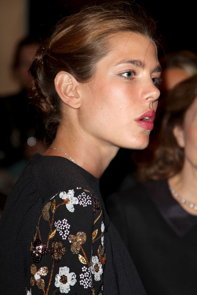 Charlotte Casiraghi Bobby Pinned Updo