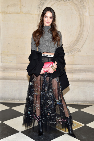 Charlotte Le Bon Leather Clutch