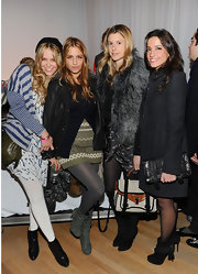 Shishanna dressed a la fall fashion wearing ankle-booties at a Charlotte Ronson event.
