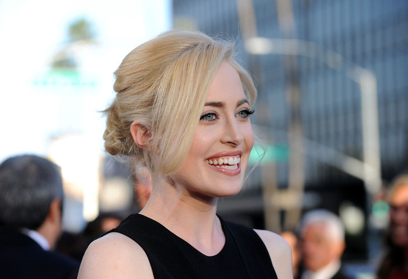 Charlotte Sullivan Twisted Bun [the kennedys,hair,face,hairstyle,blond,beauty,chin,lip,fashion,street fashion,dress,charlotte sullivan,california,beverly hills,samuel goldwyn theater,reelzchannel,red carpet,the reelzchannel world,premiere,premiere]