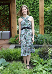 This floral halterneck dress by Erdem looked like the perfect choice for the Chelsea Flower Show!
