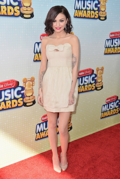 Cher Lloyd Strapless Dress