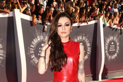 Cher Lloyd Leather Dress