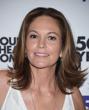 Diane Lane sported a cute flippy 'do at the 'Cherry Orchard' photocall.