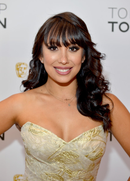 Cheryl Burke Long Curls with Bangs