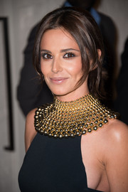 Cheryl Fernandez-Versini made quite a statement with this Cleopatra-worthy gold necklace by Rosantica.