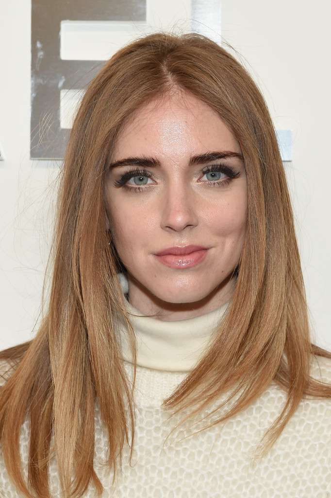Chiara Ferragni Long Center Part Chiara Ferragni Hair