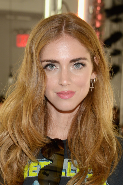 Chiara Ferragni Long Wavy Cut [hair,blond,face,hairstyle,eyebrow,brown hair,hair coloring,long hair,beauty,lip,chiara ferragni,rodarte - front row,new york city,center 548,new york fashion week,rodarte spring 2016]