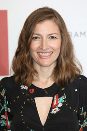 Kelly Macdonald wore her hair in a wavy lob at the preview screening of 'The Child in Time.'