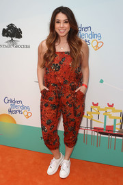 Jillian Rose Reed was laid-back yet cute in a cropped butterfly-print jumpsuit during the Empathy Rocks event.