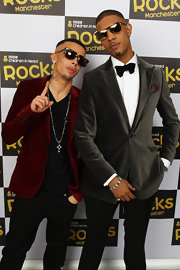 Dappy was a standout in his crimson velvet blazer.
