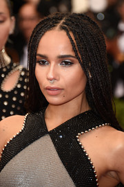 Zoe Kravitz stuck to her dreadlocks when she attended the Met Gala.