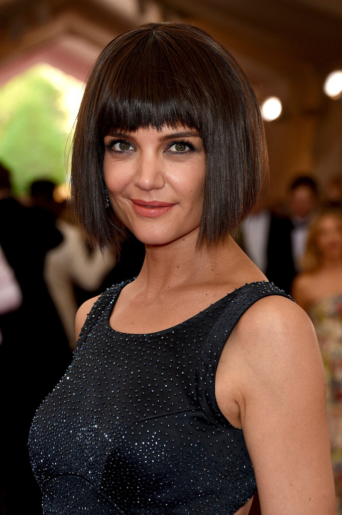 Katie Holmes Bob With Bangs Celeb Short Hairstyles That