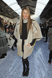 Anna dello Russo is no stranger to unique fashion as she demonstrated here when she wore an oversized fur coat.
