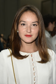 Anais Demoustier opted for a fuss-free center-parted 'do when she attended the Chloe fashion show.