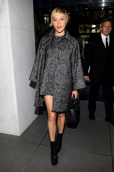 Chloe Sevigny Wool Coat