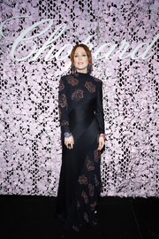 Julianne Moore oozed elegance wearing this beaded black gown by Chloé at the Chopard Love Night dinner.
