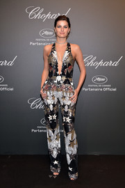 Isabeli Fontana looked disco-ready in a star-motif jumpsuit by Elie Saab at the Chopard Space Party.