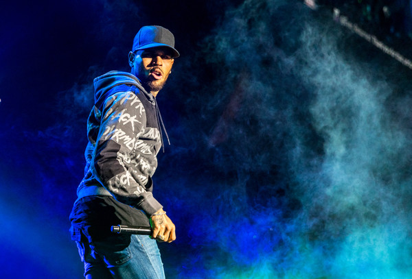 Chris Brown Hoodie [performance,performing arts,music artist,music,stage,event,rapper,night,concert,chris brown,inglewood,california,real 92.3,the forum,the real show]