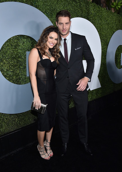 Chrishell Stause Corset Dress [suit,formal wear,clothing,tuxedo,dress,fashion,event,little black dress,shoulder,fun,arrivals,chrishell stause,justin hartley,california,los angeles,chateau marmont,gq men of the year party,l]