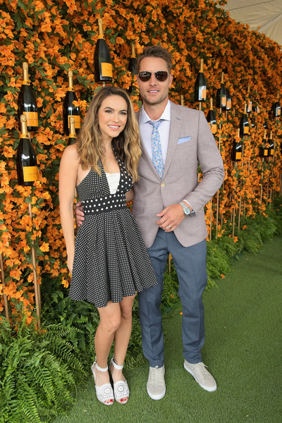 Chrishell Stause Halter Dress [yellow,fun,fashion,event,eyewear,photography,formal wear,dress,plant,long hair,chrishell stause,justin hartley,ninth,los angeles,pacific palisades,california,will rogers state historic park,l,veuve clicquot polo classic]