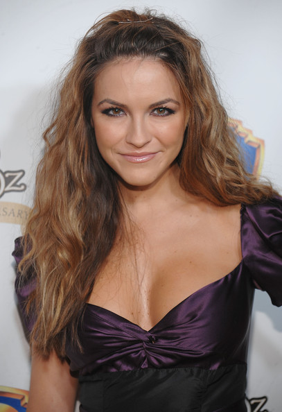 Chrishell Stause Half Up Half Down [the wizard of oz,hair,hairstyle,long hair,brown hair,beauty,eyebrow,blond,shoulder,lip,layered hair,chrishell stause,new york city,tavern on the green,emerald gala celebrating the 70th anniversary]