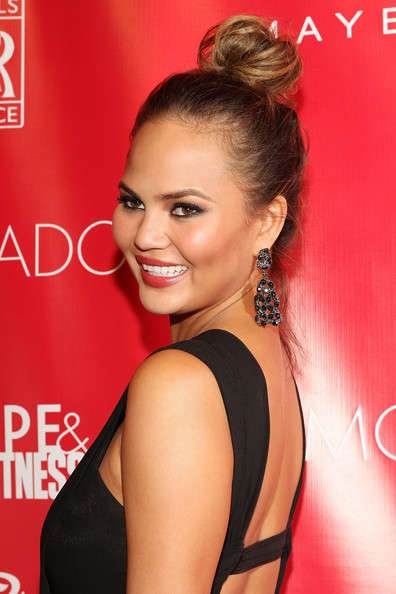 Chrissy Teigen Gemstone Chandelier Earrings